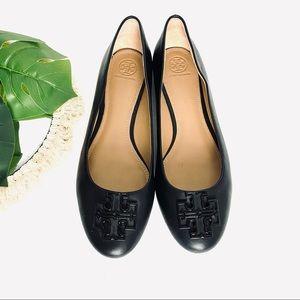 NWOT Tory Burch Melinda Ballet Flats Black Leather